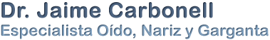 Dr. Carbonell – Otorrinolaringología Pediátrica